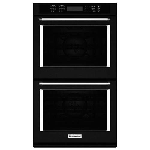 30-inch 10 cu. ft. Double Electric Wall Oven Self-Cleaning with Convection in Black