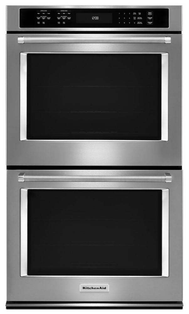 KitchenAid 10 cu. ft. Electric Double Wall Oven with Even-Heat True Convection in Stainless Steel