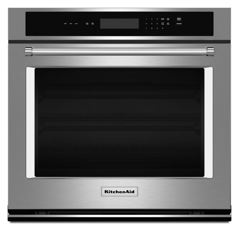 5.0 cu. ft. Electric Single Wall Oven with Even-Heat� Thermal Bake/Broil in Stainless Steel