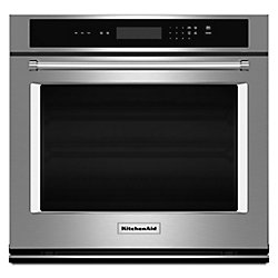 KitchenAid 30-inch 5.0 cu. ft. Single Electric Wall Oven Self-Cleaning in Stainless Steel