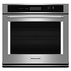 5.0 cu. ft. Electric Single Wall Oven with Even-Heat Thermal Bake/Broil in Stainless Steel