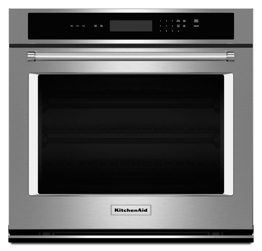 4.3 cu. ft. Electric Single Wall Oven with Even-Heat� Thermal Bake/Broil in Stainless Steel