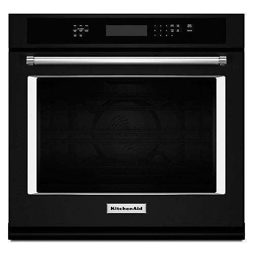 30-inch 5.0 cu. ft. Single Electric Wall Oven Self-Cleaning with Convection in Black