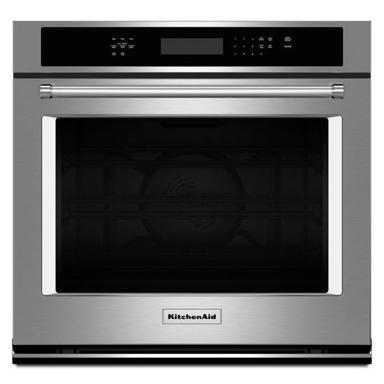 5.0 cu. ft. Electric Single Wall Oven with Even-Heat� True Convection in Stainless Steel