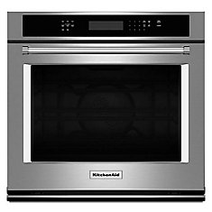30-inch 5.0 cu. ft.Electric Single Wall Oven with Even-Heat True Convection in Stainless Steel