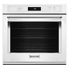 5.0 cu. ft. Electric Single Wall Oven with Even-Heat True Convection in White