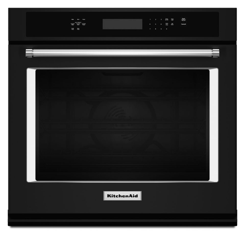 4.3 cu. ft. Electric Single Wall Oven with Even-Heat� True Convection in Black