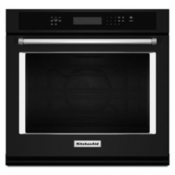KitchenAid 27-inch 4.3 cu. ft. Single Electric Wall Oven Self-Cleaning with Convection in Black