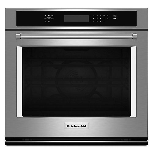 27-inch 4.3 cu. ft. Single Electric Wall Oven Self-Cleaning with Convection in Stainless Steel