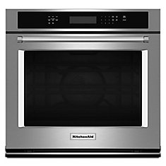 27-inch 4.3 cu. ft.Electric Single Wall Oven with Even-Heat True Convection in Stainless Steel