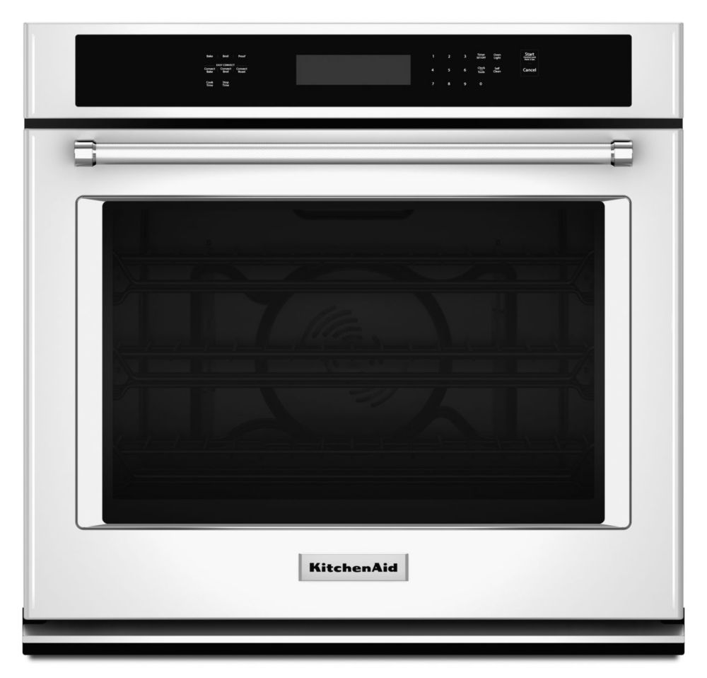 4.3 cu. ft. Electric Single Wall Oven with Even-Heat� True Convection in White