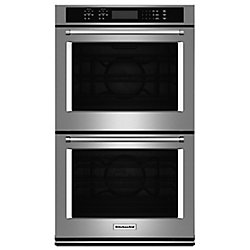 KitchenAid 27-inch 8.6 cu. ft. Double Electric Wall Oven Self-Cleaning with Convection in Stainless Steel