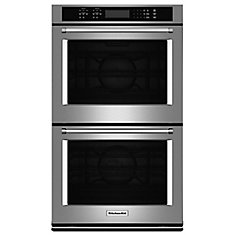 4.3 cu. ft. Electric Double Wall Oven with Even-Heat True Convection in Stainless Steel