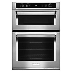 30-inch 5.0 cu. ft. Double Electric Wall Oven Self-Cleaning with Convection in Stainless Steel