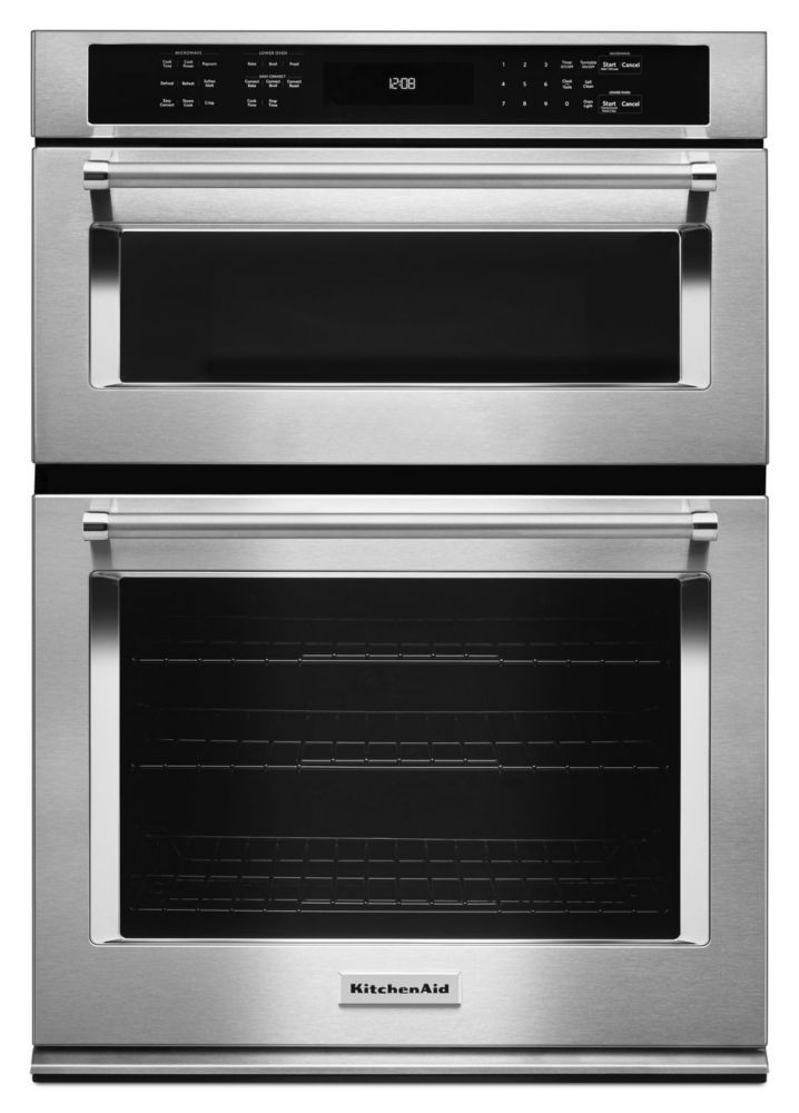KitchenAid 30-inch 5.0 cu. ft. Double Electric Wall Oven Self-Cleaning with Convection in Stainless Steel
