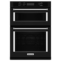 27-inch 4.3 cu. ft. Double Electric Wall Oven & Microwave with Convection in Black