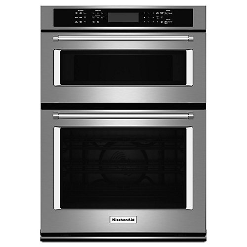 27-inch 4.3 cu. ft. Double Electric Wall Oven & Microwave with Convection in Stainless Steel