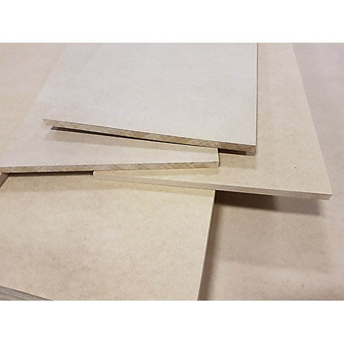 Unfinished Square edge Medium Density Fibreboard Shelving 5/8 inch x 16 inch x 96 inch