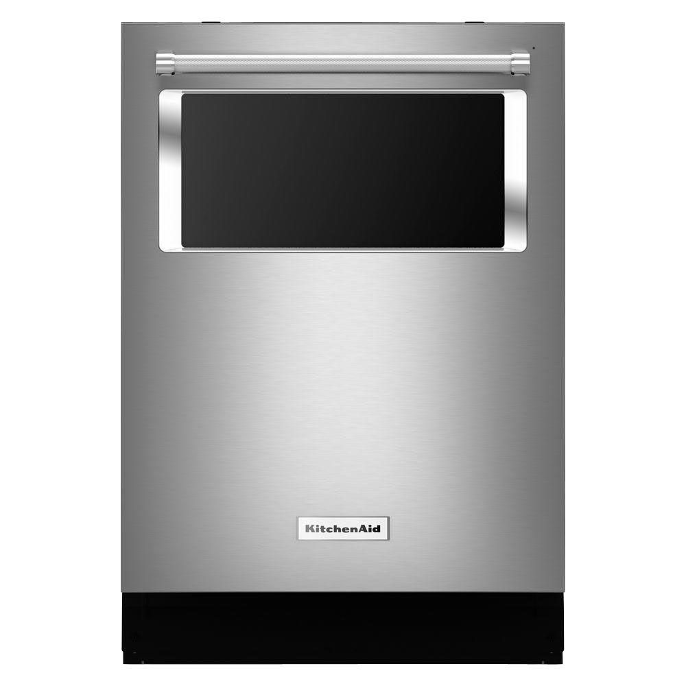 Kitchenaid 24 Inch Dishwasher With Window And Lighted Interior In Stainless Steel The Home