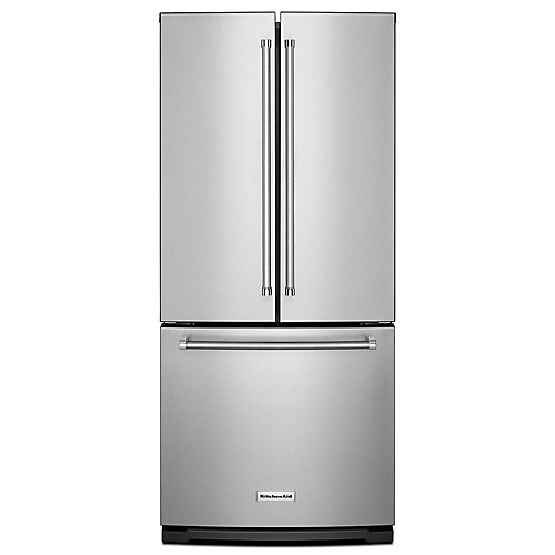 30-inch W 20 cu. ft. French Door Refrigerator in Stainless Steel