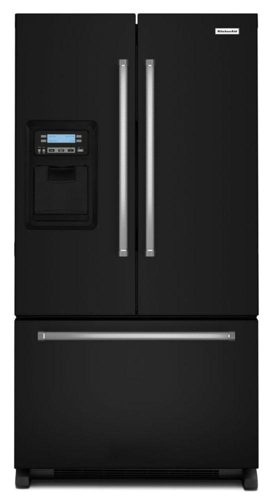 kitchenaid r frig rateur de 20 portes fran aises et profondeur de comptoir de 30 po. Black Bedroom Furniture Sets. Home Design Ideas