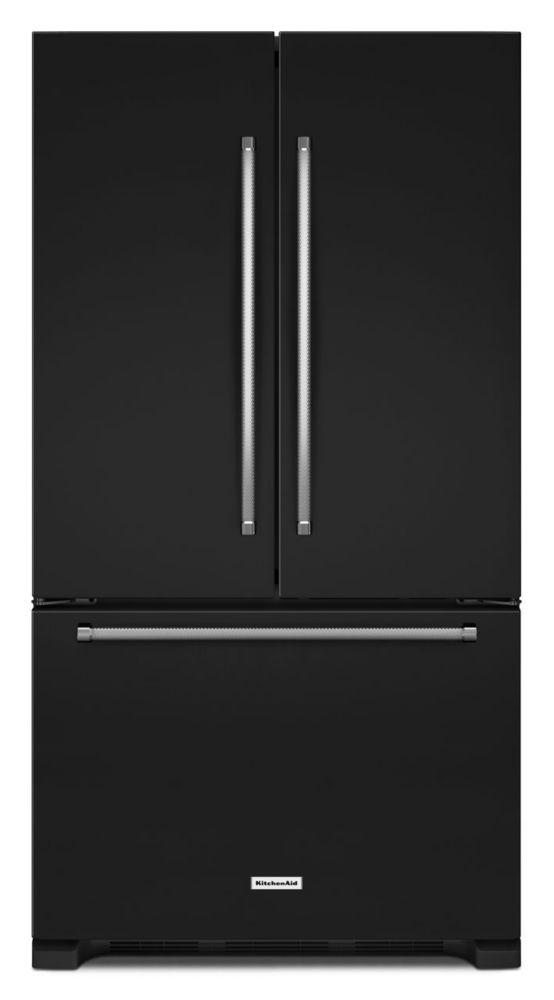 21.9 cu. ft. Counter-Depth French Door Refrigerator with Interior Dispenser in Black