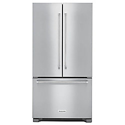 KitchenAid 36-inch W 22 cu. ft. French Door Refrigerator in Stainless Steel, Counter Depth