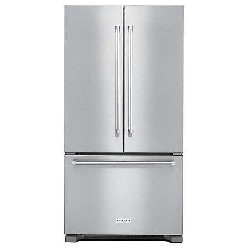 36-inch W 22 cu. ft. French Door Refrigerator in Stainless Steel, Counter Depth