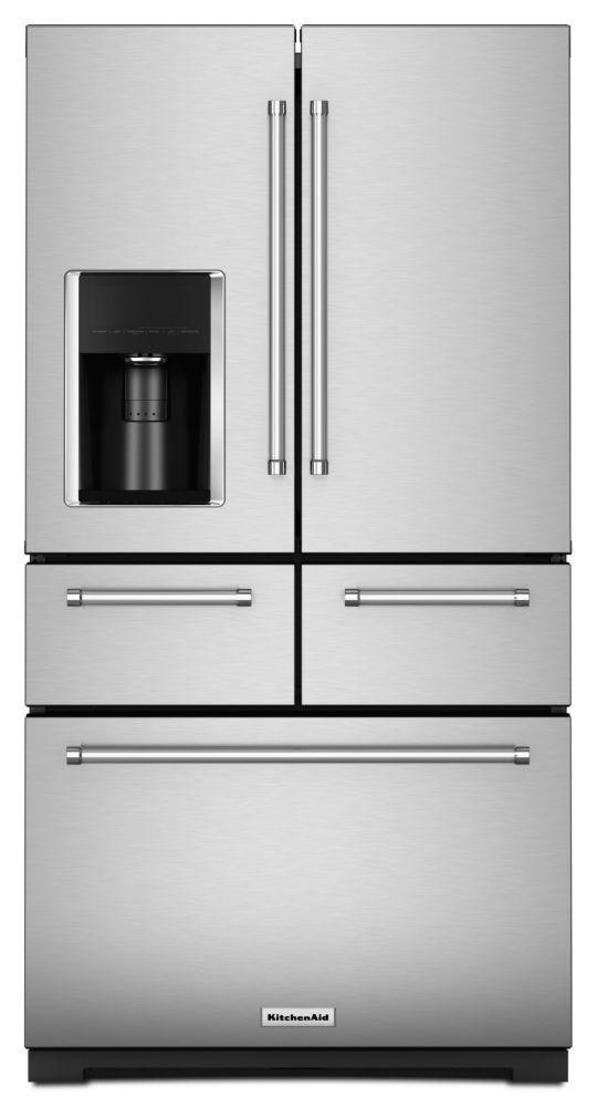 KitchenAid 36-inch W 25.8 cu. ft. French Door Refrigerator in Stainless Steel with Platinum Interior
