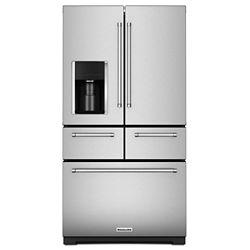 KitchenAid 36-inch W 25.8 cu. ft. Multi-Door French Door Refrigerator in Stainless Steel with Platinum Interior
