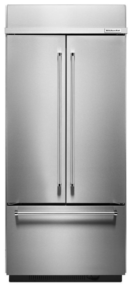 20.8 cu. ft. Built In French Door Refrigerator in Stainless Steel