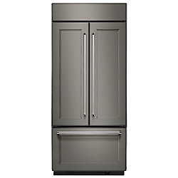 36-inch W 20.8 cu. ft. Built-In French Door Refrigerator in Panel Ready with Platinum Interior