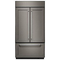 Réfrigérateur encastrable à porte française encastrée de 42 po W 24,2 pi3 avec intérieur en platine - ENERGY STARMD