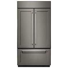 42-inch W 24.2 cu. ft. Built-In French Door Refrigerator in Panel-Ready with Platinum Interior - ENERGY STAR®
