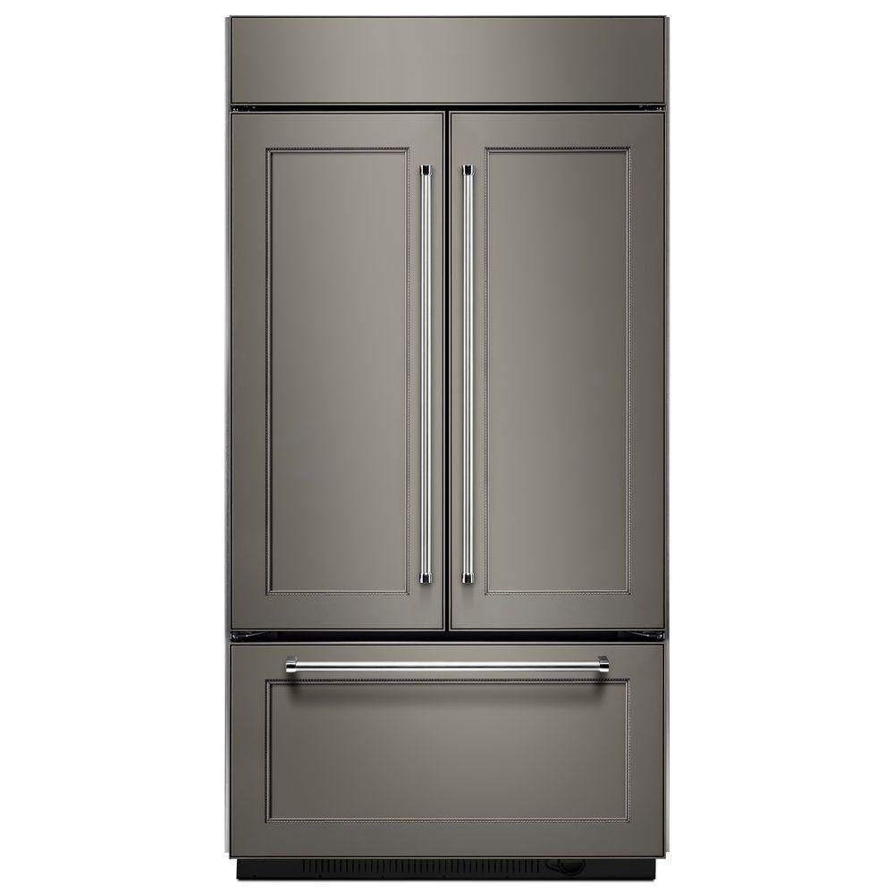 KitchenAid 24.2 cu. ft. Built-In French Door Refrigerator with Platinum Interior Design in Panel-Ready - ENERGY STAR®