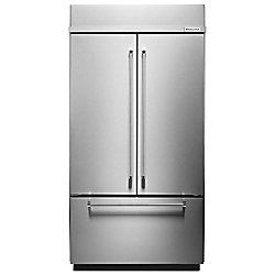 KitchenAid 42-inch W 24.2 cu. ft. Built-In French Door Refrigerator in Stainless Steel with Platinum Interior - ENERGY STAR®
