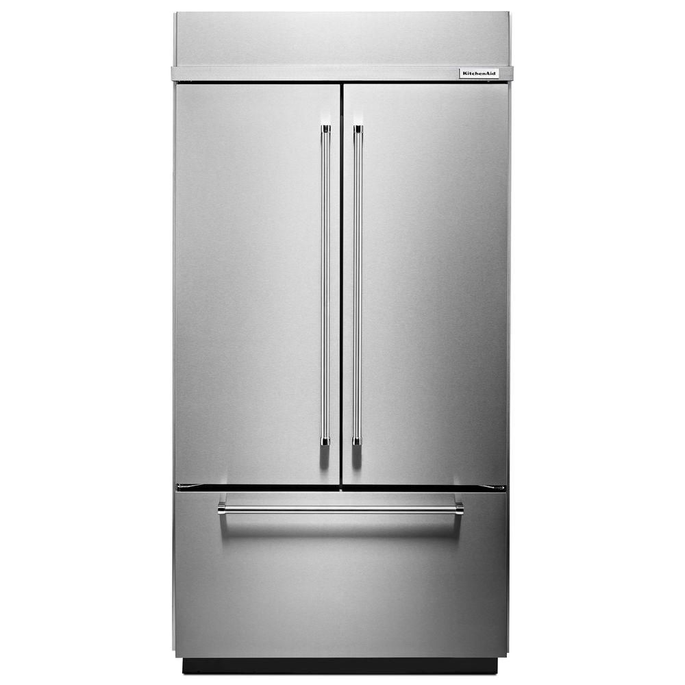 KitchenAid 24.2 cu. ft. Built-In French Door Refrigerator with Platinum Interior Design in Stainless Steel - ENERGY STAR®