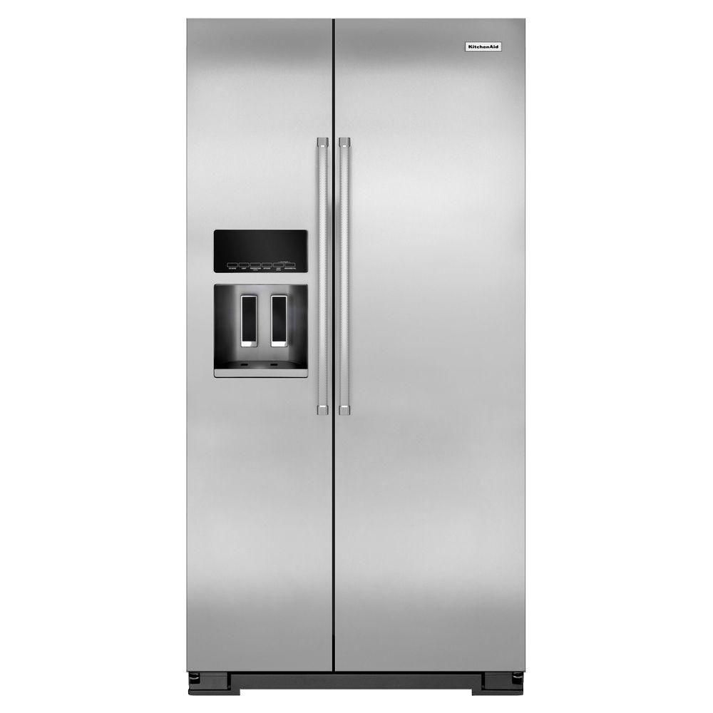 22.7 cu. ft. Counter-Depth Side-by-Side Refrigerator with Exterior Ice and Water in Stainless Ste...