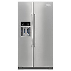 36-inch W 25 cu. ft. Side by Side Refrigerator in Stainless Steel - ENERGY STAR®