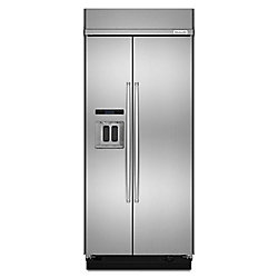 KitchenAid 36-inch W 21 cu. ft. Built-In Side by Side Refrigerator in Stainless Steel