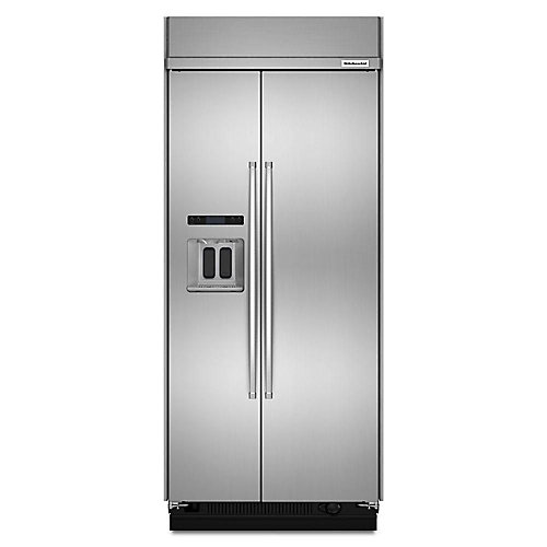 36-inch W 21 cu. ft. Built-In Side by Side Refrigerator in Stainless Steel