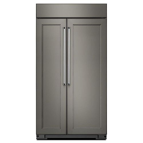 KitchenAid 42-inch W 25.5 cu. ft. Built-In Side by Side Refrigerator in Panel Ready