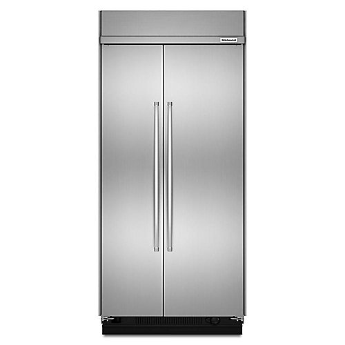 42-inch W 25.5 cu. ft. Built-In Side by Side Refrigerator in Fingerprint Resistant Stainless Steel