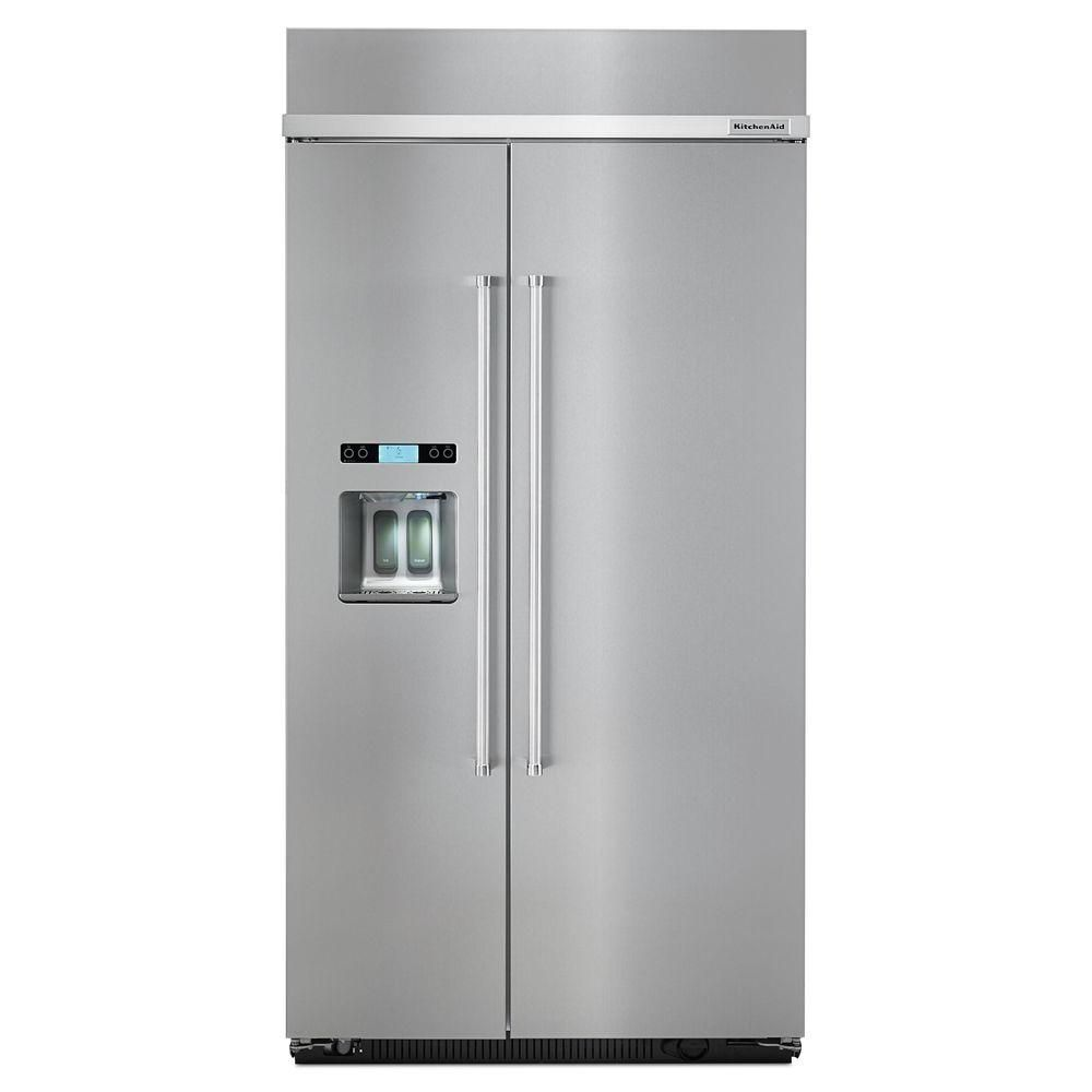 25 cu. ft. Built-In Side-by-Side Refrigerator in Stainless Steel
