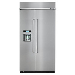 KitchenAid 42-inch W 25 cu. ft. Built-In Side by Side Refrigerator in Stainless Steel - ENERGY STAR®
