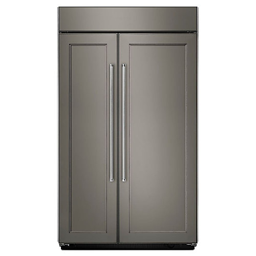 48-inch W 30 cu. ft. Built-In Side by Side Refrigerator in Panel Ready