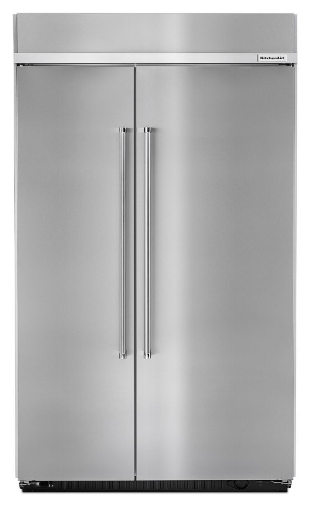 30 cu. ft. Built-In Side-by-Side Refrigerator in Stainless Steel