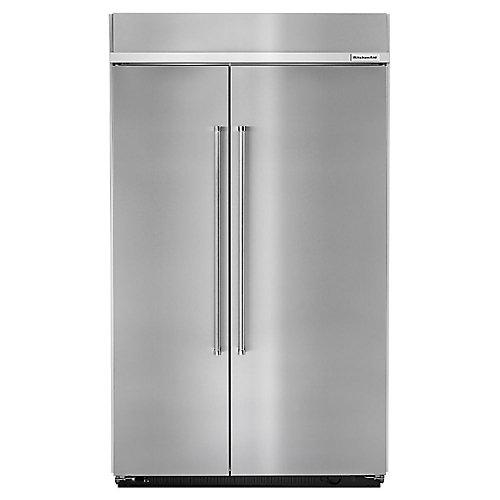 48-inch W 30 cu. ft. Built-In Side by Side Refrigerator in Fingerprint Resistant Stainless Steel