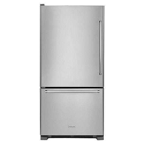 KitchenAid Réfrigérateur inférieur en acier inoxydable de 30 po W 19 pi3 - ENERGY STARMD
