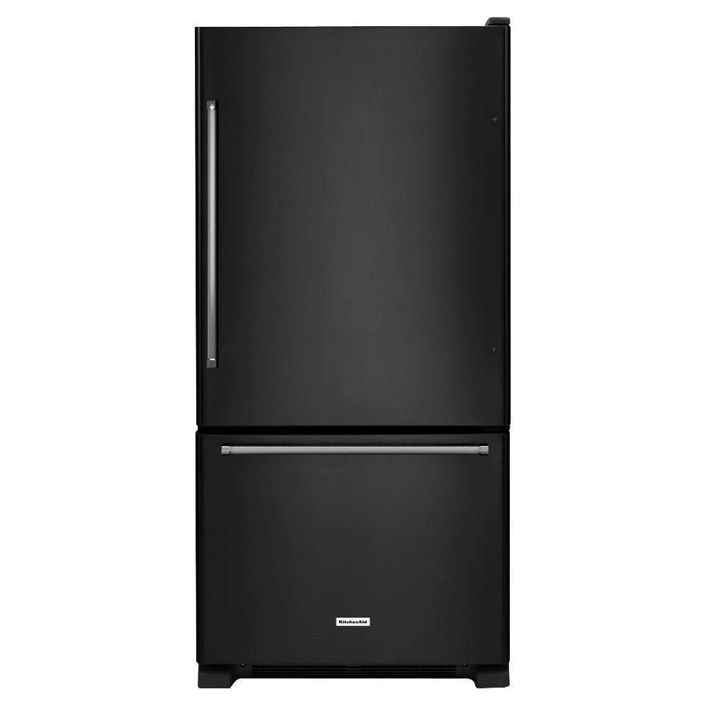 18.7 cu. ft. Full-Depth Refrigerator with Bottom Mount Freezer in Black